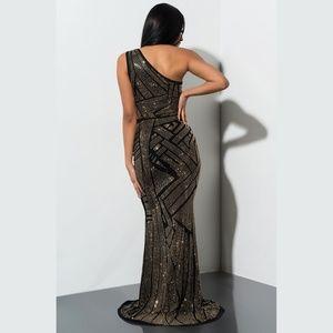 AKIRA One Shoulder Maxi Dress